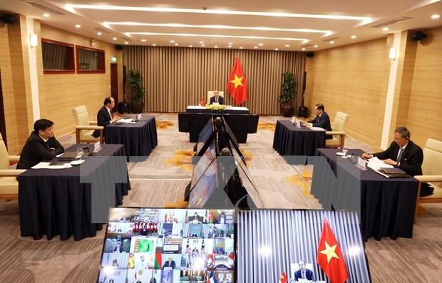 Premier vietnamita participa en reunion online de Movimiento de Paises no Alineados hinh anh 1