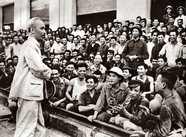 Alaban vida y trayectoria revolucionaria del Presidente Ho Chi Minh hinh anh 1
