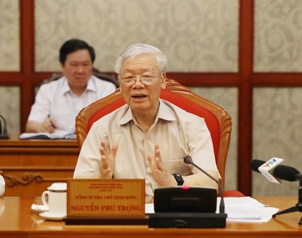 Debaten preparacion del personal para el XIII Congreso del Partido Comunista de Vietnam hinh anh 1