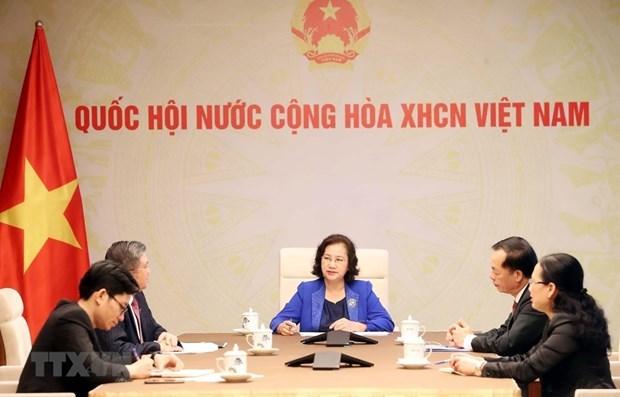 Fortalecen parlamentos de Laos y Vietnam cooperacion en lucha antipandemica hinh anh 1