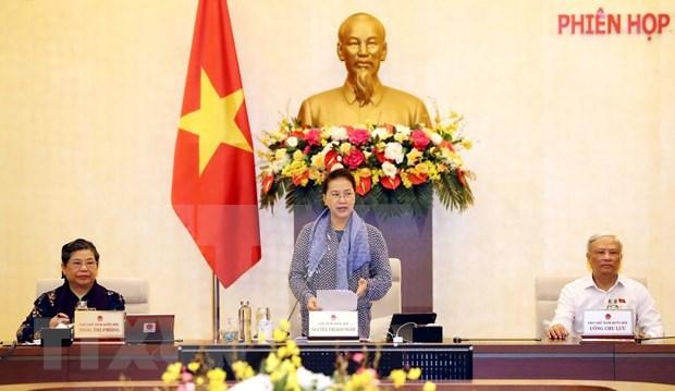 Sesiona la 45 reunion del Comite Permanente de Asamblea Nacional de Vietnam hinh anh 1