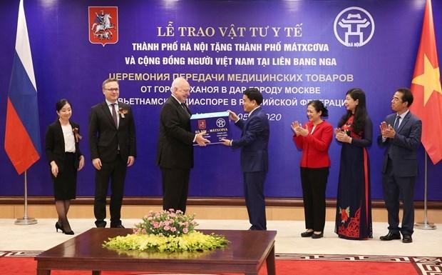 Hanoi proporciona suministros medicos a Moscu para hacer frente a COVID-19 hinh anh 1
