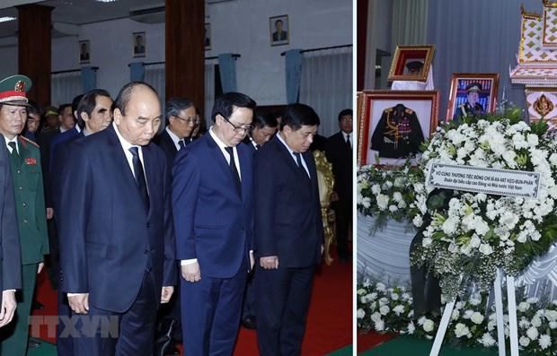 Asiste premier de Vietnam a funeral de Estado de expremier de Laos hinh anh 1
