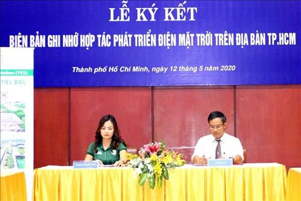 Fortalece Ciudad Ho Chi Minh cooperacion en desarrollo de energia solar hinh anh 1