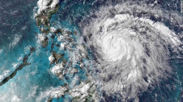 Tormenta Vongfong azota el centro de Filipinas hinh anh 1