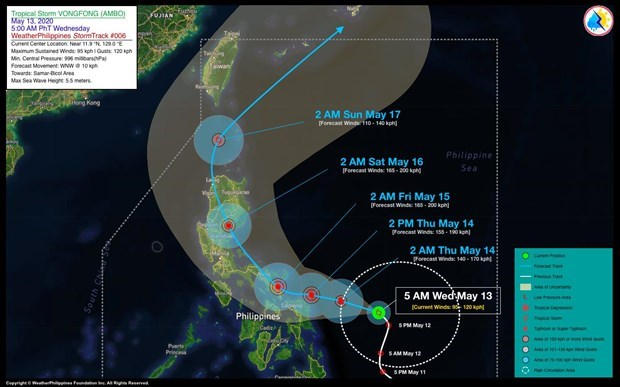 Vietnam se prepara ante llegada de la tormenta tropical Vongfong hinh anh 1