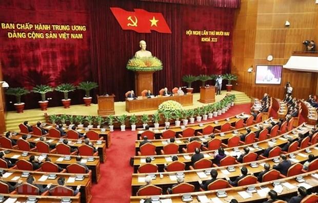 Culmina XII Pleno del Comite Central del Partido Comunista de Vietnam hinh anh 1