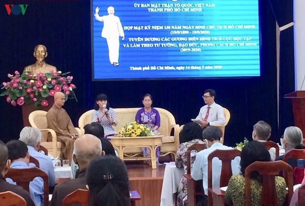 Honran a ejemplos destacados en seguimiento de ideologia de Ho Chi Minh hinh anh 1