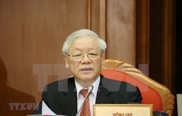 Maximo dirigente vietnamita elogia desempeno de organizaciones e individuos en lucha contra desastres naturales hinh anh 1