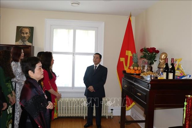 Proyectan establecer una sala de exposiciones sobre Presidente Ho Chi Minh en Canada hinh anh 1