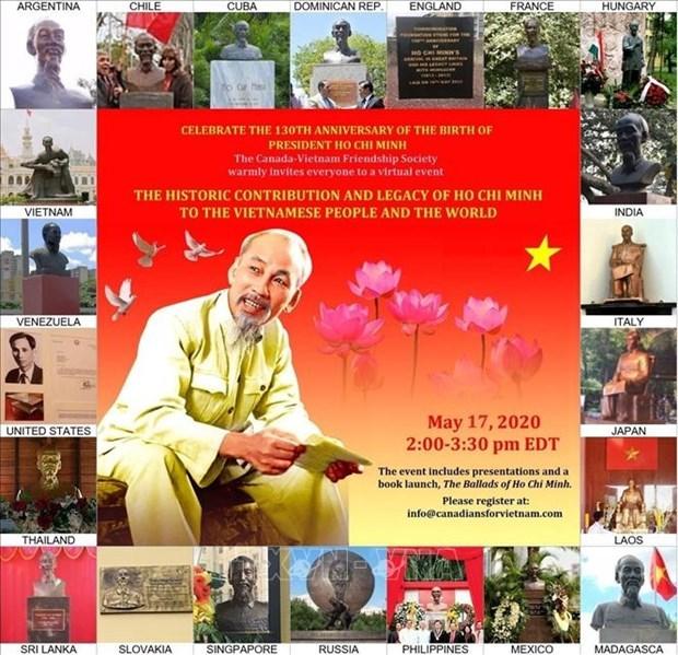 Conmemoran en Canada aniversario 130 del natalicio del Presidente Ho Chi Minh hinh anh 1