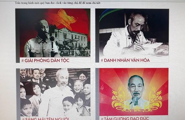 Celebran exposicion de libros en linea por natalicio del Presidente Ho Chi Minh hinh anh 1