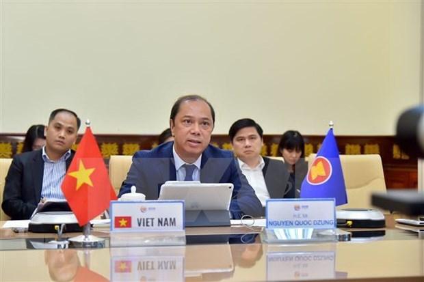 Vietnam participa en reunion en linea de altos funcionarios de ASEAN hinh anh 1
