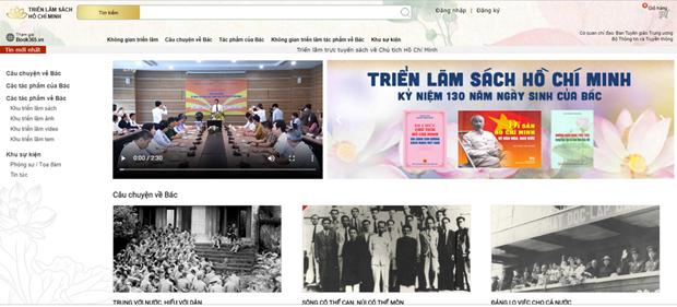 Efectuan exposicion de libros en linea sobre el Presidente Ho Chi Minh hinh anh 1