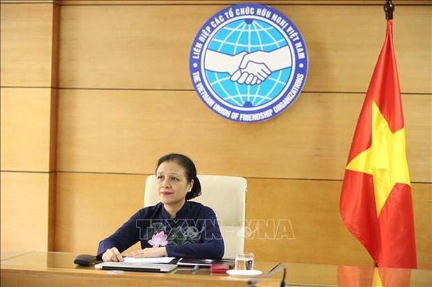 Organizaciones de amistad de ASEAN y China comparten experiencias contra coronavirus hinh anh 1