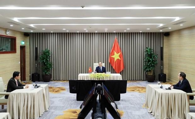 Premier vietnamita asiste a la reunion en linea de Asamblea Mundial de la Salud hinh anh 1