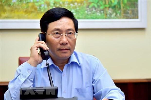 Cancilleres de Vietnam e Italia mantienen conversaciones telefonicas hinh anh 1