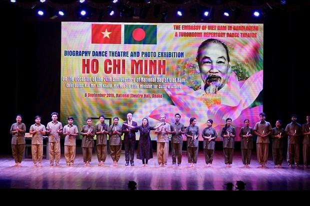Presidente Ho Chi Minh es muy admirado por el pueblo de Bangladesh, segun artista hinh anh 1