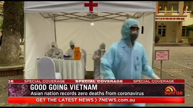 Enfatiza medio australiano liderazgo de Vietnam en lucha contra el COVID-19 hinh anh 1