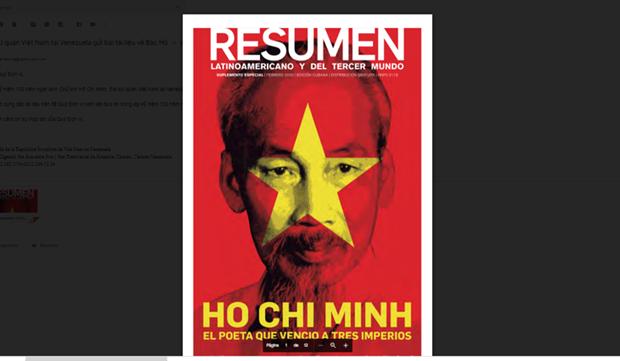 Realzan a procer de la liberacion de Vietnam en edicion especial de Resumen Latinoamericano hinh anh 1