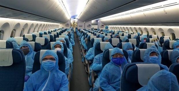 Repatrian a casi 340 vietnamitas varados en la India hinh anh 1