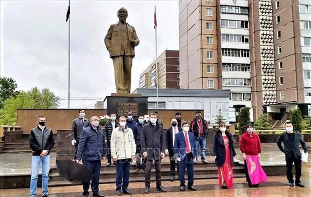 Comunidades vietnamitas en Rusia y Argelia conmemoran aniversario 130 del natalicio de Ho Chi Minh hinh anh 1