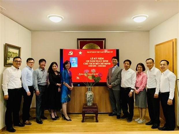 Embajada vietnamita en Suiza recuerda el Presidente Ho Chi Minh hinh anh 1