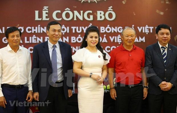 Seleccion nacional de futbol de Vietnam tiene nuevo patrocinador hinh anh 1