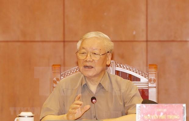 Lider partidista de Vietnam destaca necesidad de reforzar la lucha anticorrupcion hinh anh 1