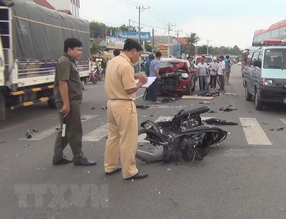 Disminuyen accidentes de trafico en Vietnam en primeros cinco meses de 2020 hinh anh 1