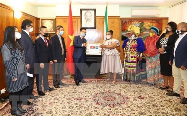 Embajada vietnamita en Sudafrica ayuda a pobladores locales frente al COVID-19 hinh anh 1