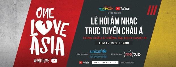 Festival de musica en linea en apoyo de UNICEF hinh anh 1