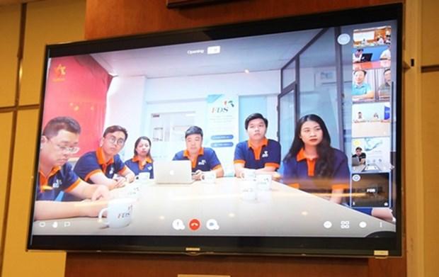 Presentan plataforma de conferencia desarrollada por ingenieros vietnamitas hinh anh 1
