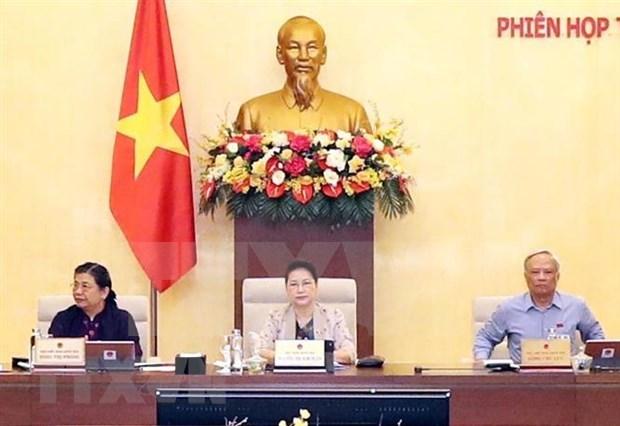 Clausuran reunion 45 del Comite Permanente del Parlamento de Vietnam hinh anh 1