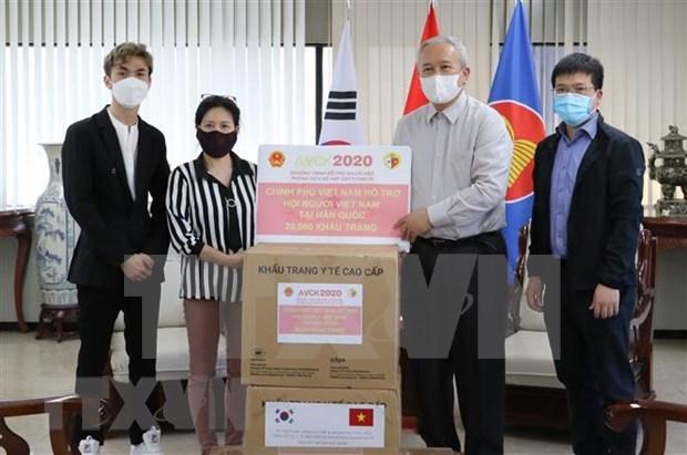 Gobierno vietnamita entrega mascarillas antibacterianas a compatriotas en Corea del Sur hinh anh 1