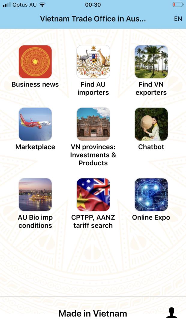 Lanzan aplicacion para conectar empresas de Vietnam y Australia hinh anh 1