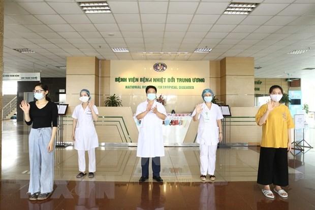 Vietnam informa de otros cinco pacientes recuperados de COVID-19 hinh anh 1