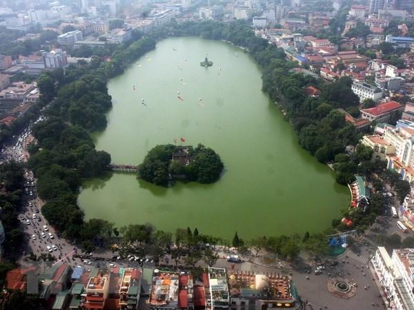 Lanzan concurso de diseno de la obra de Kilometro 0 en lago Hoan Kiem de Hanoi hinh anh 1