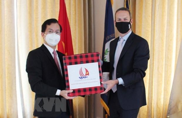 Vietnam intensifica nexos de cooperacion con Estados Unidos hinh anh 1