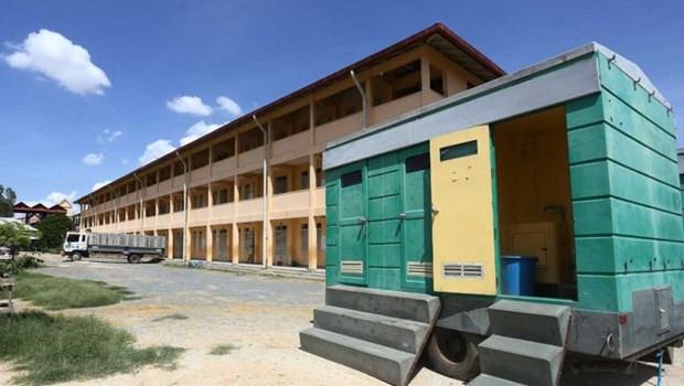Camboya convierte escuela secundaria en centro de salud para viajeros entrantes hinh anh 1