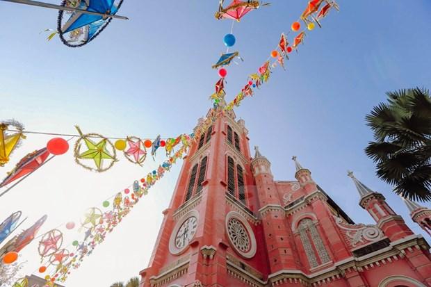 Iglesia vietnamita figura entre los destinos rosados mas bellos del mundo hinh anh 1