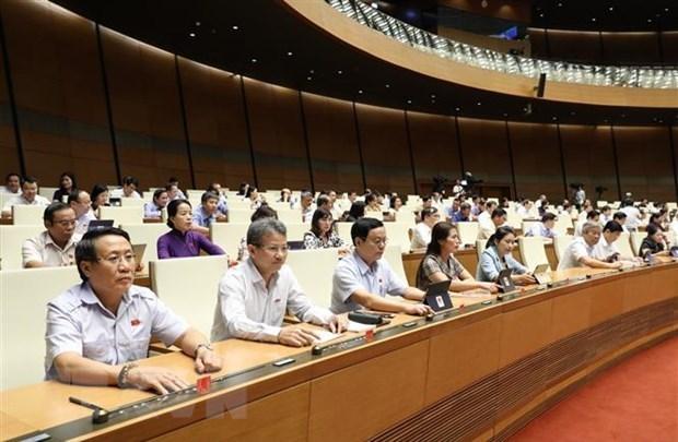 Parlamento de Vietnam continua debates sobre proyectos de ley hinh anh 1