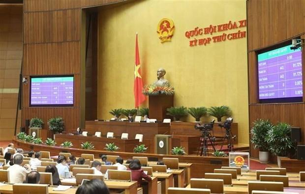 Legisladores de Vietnam debaten temas de personal durante IX periodo de sesiones hinh anh 1