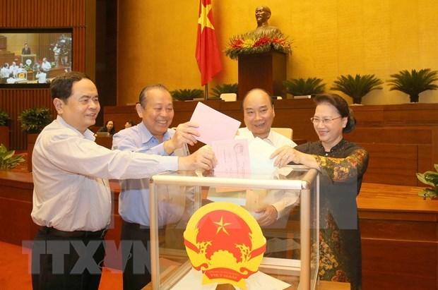 Nguyen Thi Kim Ngan, elegida presidenta del Consejo Nacional Electoral hinh anh 1