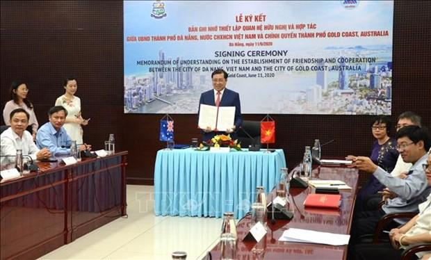 Ciudades de Vietnam y Australia establecen relaciones de cooperacion hinh anh 1