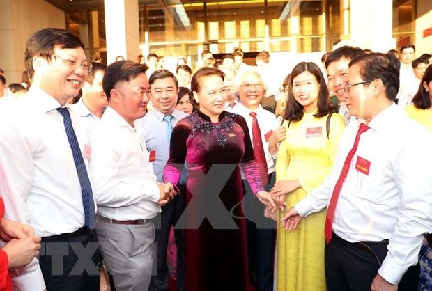 Destaca maxima legisladora de Vietnam contribuciones de periodistas hinh anh 1