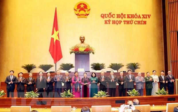 Parlamento de Vietnam aprueba resolucion sobre miembros del Consejo Electoral Nacional hinh anh 1
