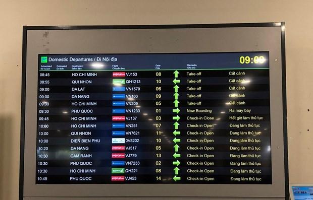 Aumenta tasa de puntualidad de vuelos en Vietnam hinh anh 1