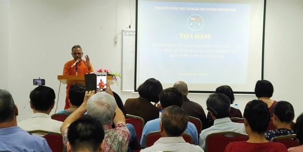 Debaten en Hanoi relaciones entre idioma clasico indio y budismo vietnamita hinh anh 1