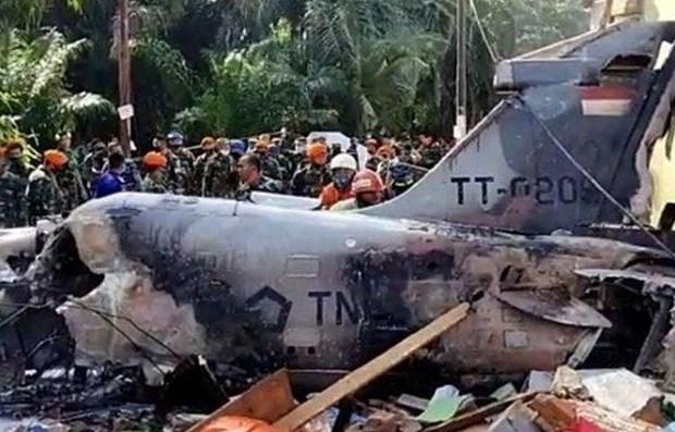 Avion de combate se estrella en Indonesia hinh anh 1